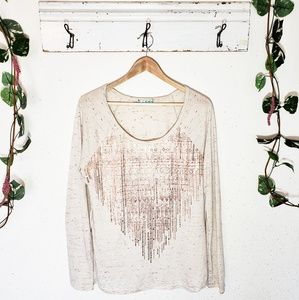 MAURICES // Embellished Long Sleeve Tee [XL]
